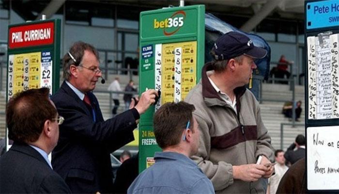 bookmakers tijdens wedstrijd