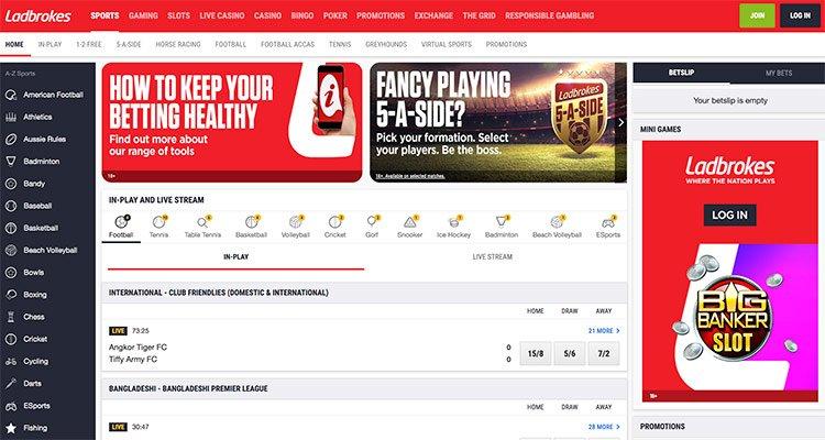 ladbrokes homepage